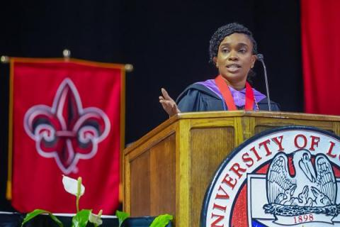 Kiwana McClung Speaks at Summer 2021 Commencement