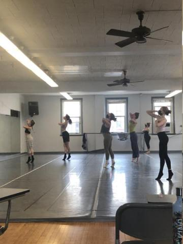UL Lafayette Dance Majors in first rehearsal for Jose Limón's A Choreographic Offering