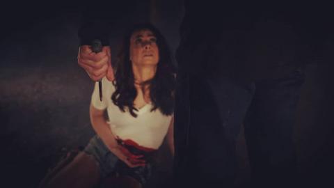 Amy Wickenheiser in a horror film
